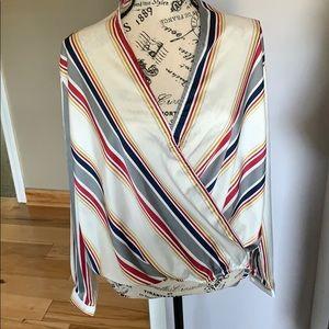 Boohoo blouse multi-color
